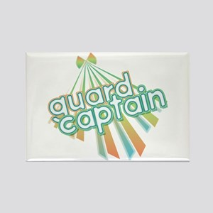 Retro Guard Captain Rectangle Magnet