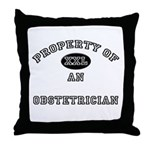 Property of an Obstetrician Throw Pillow