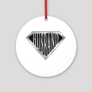 Super Husband(metal) Ornament (Round)
