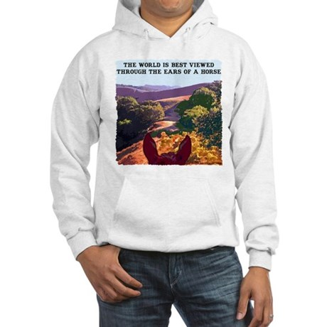 Through the ears of a horse. Hooded Sweatshirt