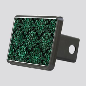 DAMASK1 BLACK MARBLE & GRE Rectangular Hitch Cover