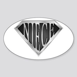 SuperNiece(metal) Oval Sticker