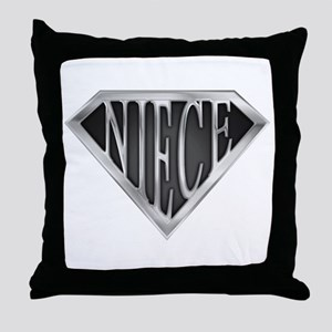 SuperNiece(metal) Throw Pillow