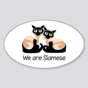 We Are Siamese Cats Oval Sticker