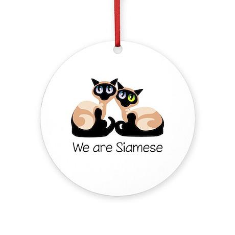We Are Siamese Cats Ornament (Round)
