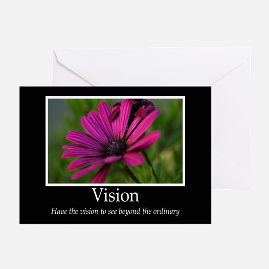 Vision-Purple Flower Greeting Cards (Pk of 10)