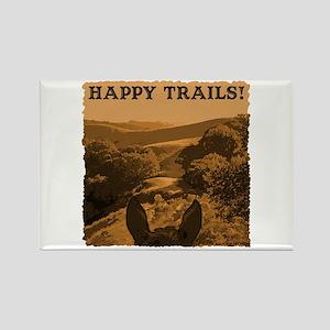 Happy Trails. Horse Rectangle Magnet