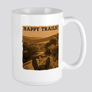 Happy Trails. Horse Large Mug