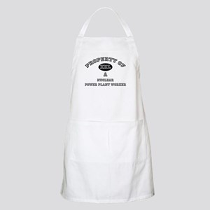 Property of a Nuclear Power Plant Worker BBQ Apron