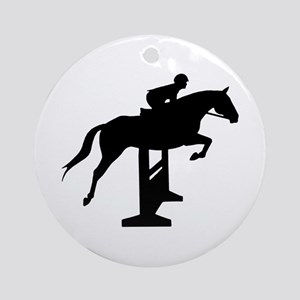 Hunter Jumper Over Fences Ornament (Round)