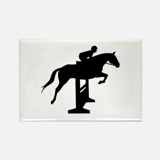 Hunter Jumper Over Fences Rectangle Magnet