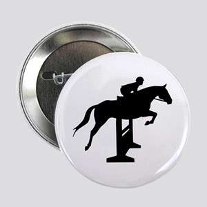 "Hunter Jumper Over Fences 2.25"" Button"
