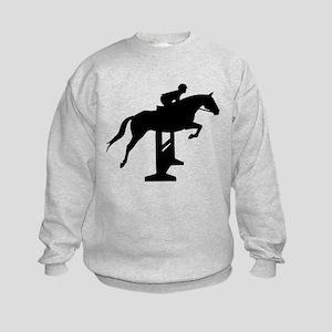 Hunter Jumper Over Fences Kids Sweatshirt