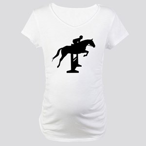 Hunter Jumper Over Fences Maternity T-Shirt