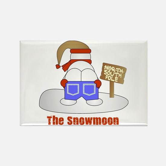 The Snowmoon Rectangle Magnet