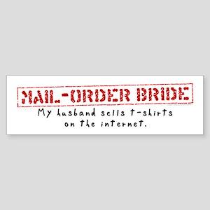 Mail-Order Bride Bumper Sticker