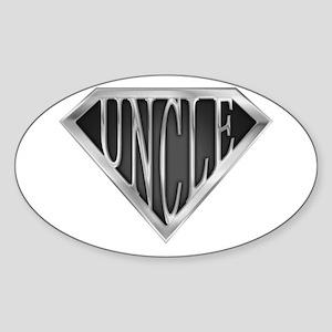 SuperUncle(metal) Oval Sticker