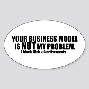 Your Business Model Oval Sticker