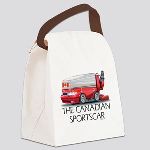 Canadian Sportscar Hockey Canvas Lunch Bag