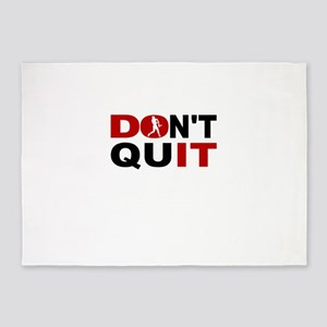 Dont Quit Softball 5'x7'Area Rug