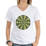 Green Pattern 001 Women's V-Neck T-Shirt