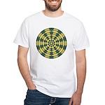 Green Pattern 001 White T-Shirt