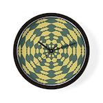 Green Pattern 001 Wall Clock