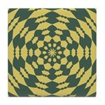 Green Pattern 001 Tile Coaster