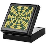 Green Pattern 001 Keepsake Box