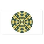 Green Pattern 001 Rectangle Sticker