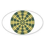 Green Pattern 001 Oval Sticker