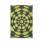 Green Pattern 001 Rectangle Magnet (100 pack)