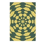 Green Pattern 001 Postcards (Package of 8)