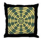 Green Pattern 001 Throw Pillow