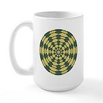 Green Pattern 001 Large Mug
