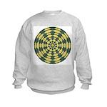Green Pattern 001 Kids Sweatshirt