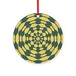 Green Pattern 001 Ornament (Round)