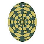 Green Pattern 001 Oval Ornament