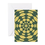 Green Pattern 001 Greeting Cards (Pk of 20)