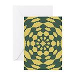 Green Pattern 001 Greeting Card