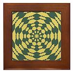 Green Pattern 001 Framed Tile