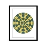 Green Pattern 001 Framed Panel Print