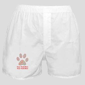 Dog Paw Print Customize Boxer Shorts