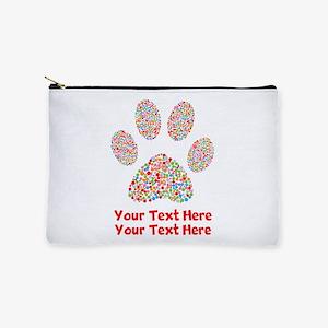 Dog Paw Print Customize Makeup Bag