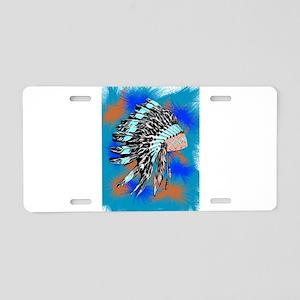 Native American Art Aluminum License Plate