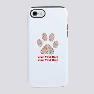 Dog Paw Print Customize iPhone 8/7 Tough Case