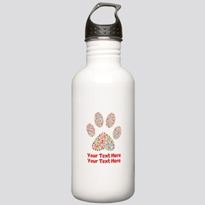 Dog Paw Print Customiz Stainless Water Bottle 1.0L