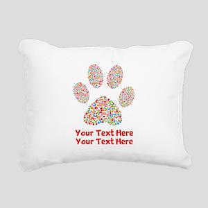 Dog Paw Print Customize Rectangular Canvas Pillow