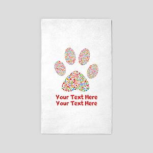 Dog Paw Print Customize Area Rug