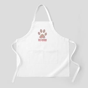 Dog Paw Print Customize Light Apron